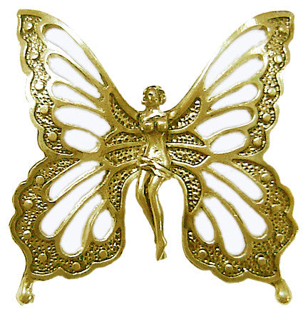 Hair Hook Fairy Butterfly - Gold Ponytail Holder
