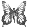 Hair Hook Fairy Butterfly - Silver Ponytail Holder