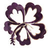 Hair Hook Hibiscus - Purple Ponytail Holder