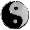 Hair Hook Yin Yang - Silver Ponytail Holder
