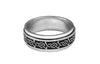 Celtic Power Knot Spinner Ring, Renaissance Jewelry, Front View, (R-SP-S)