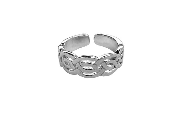 Toe Ring Silver - Celtic Woven