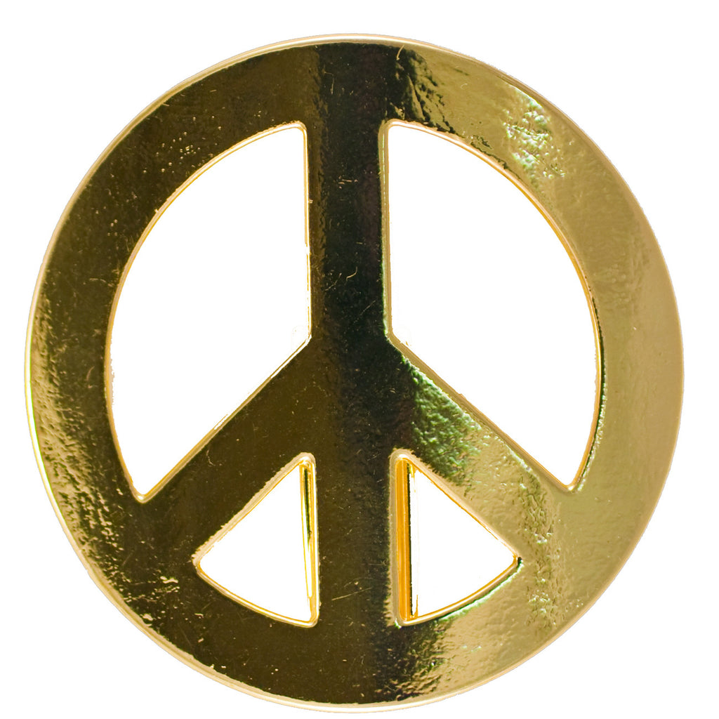 New Hair Hook Peace Sign - Gold Ponytail Holder
