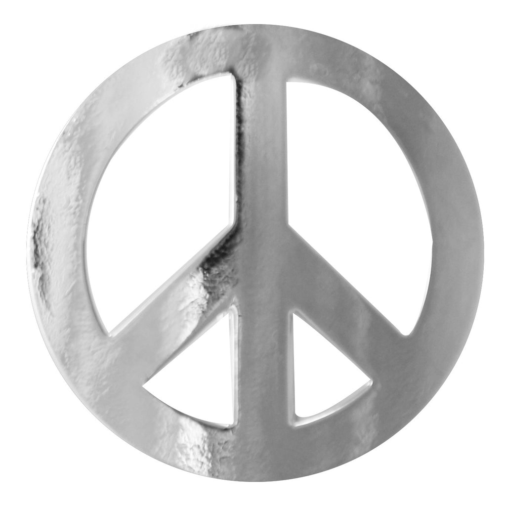 New Hair Hook Peace Sign - Silver Ponytail Holder