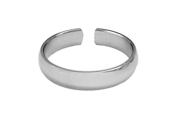 Toe Ring Silver - Plain Band