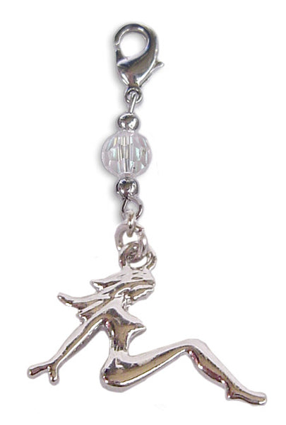 Charm Small Silver - Mud Flap Girl