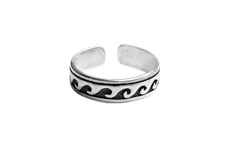 Toe Ring Silver - Wave