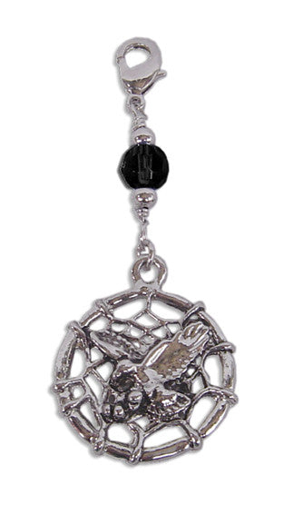 Charm Large Silver - Dream Catcher Eagle