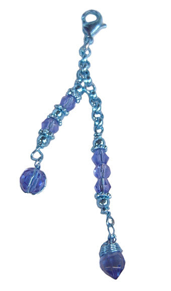 Charm Small Blue Beads and Blue Wire