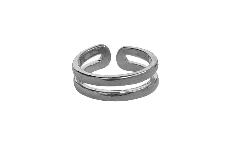 Toe Ring Silver - Double Band