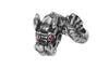 Medieval Metal - Dragon with Red Eyes Ring Front View (R-DN-S)