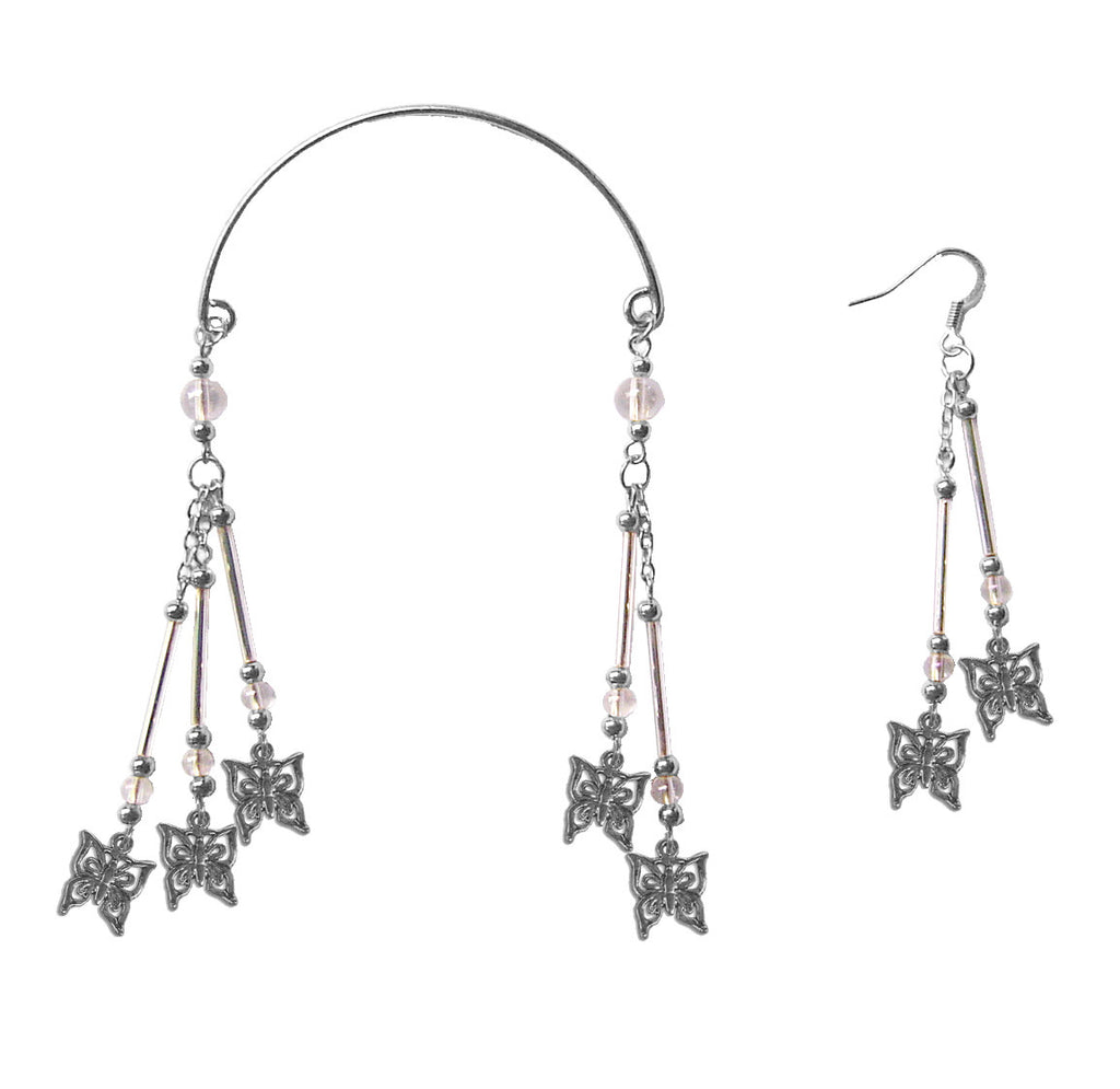 Ear Wrap Silver - Butterfly