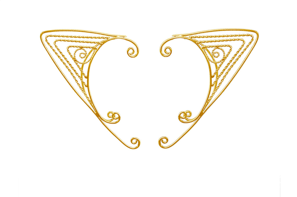 Elf Cuff Triangle Wire Wrap - Gold