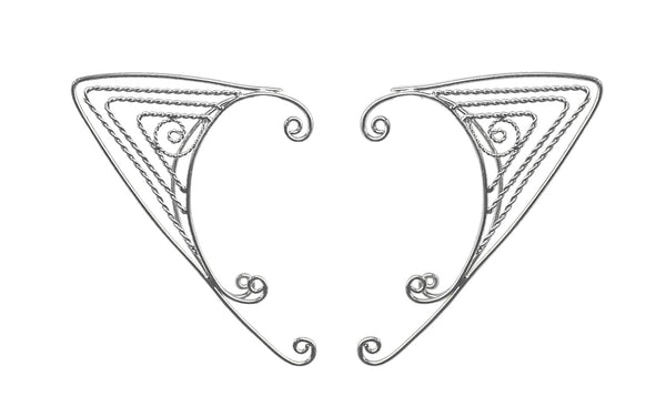 Elf Cuff Triangle Wire Wrap - Silver