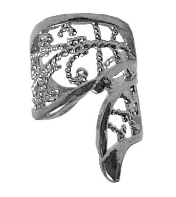 Ear Cuff Silver - Butterfly Wing