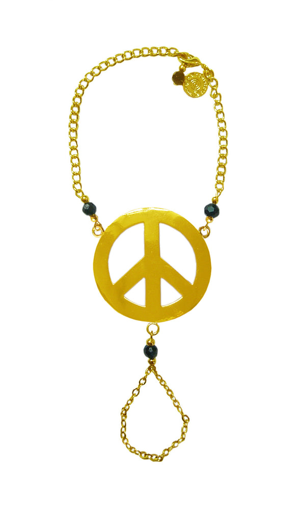 Finger Bracelet Gold - Peace