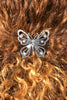 Hair Hook Diamond Butterfly - Silver Ponytail Holder
