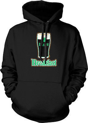 Irish Breakfast Beer Pint Glass Clover St Patricks Hoodie Pullover Sweatshirt