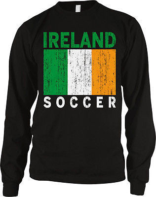 Ireland Flag Soccer Football Irish Pride Eire 2014 Games Long Sleeve Thermal