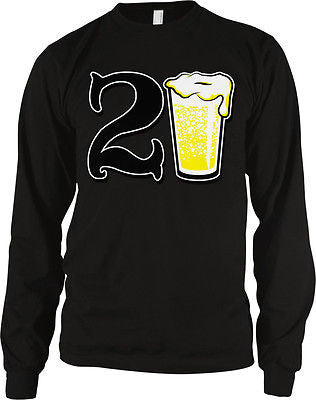 21st Happy Birthday Drinking Drunk Party Beer Shenanigans Long Sleeve Thermal