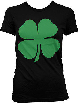 4 Four Leaf Clover Lucky Charm Irish Pride St Patricks Day Juniors T-shirt