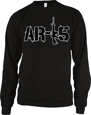 AR-15 Rifle Pro-Gun 2nd Second Amendment Political Freedom Long Sleeve Thermal