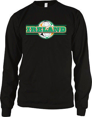 Ireland Soccer Ball Flag Irish Pride Eire Long Sleeve Thermal