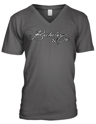 Bachelor & Company Party Rehersal Dinner Funny Humor Wedding Mens V-neck T-shirt