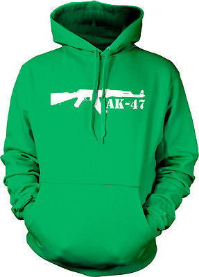 AK-47 Assault Rifle Silhouette Pro-gun 2nd Second Amendment Hoodie Pullover
