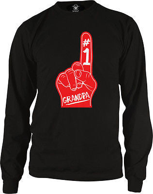 #1 Number One Grandpa Long Sleeve Thermal
