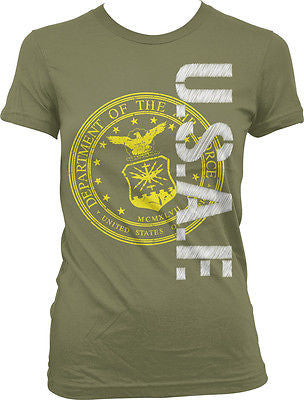 Air Force USAF Seal Military Armed Forces USA Pride Patriotic Juniors T-shirt