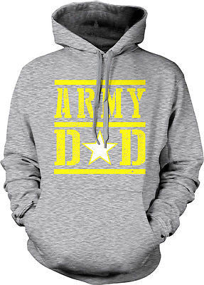 Army Dad Fathers Day USA Proud Son Daughter Serving Troops Gift Hoodie Pullover