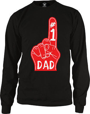 #1 Number One Dad Long Sleeve Thermal