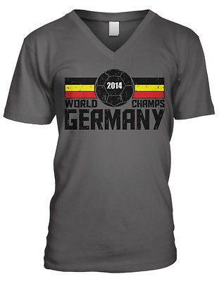 2014 World Champs Germany Soccer Ball Cup Deutschland Mens V-neck T-shirt