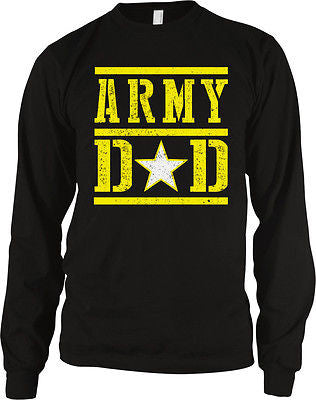 Army Dad Fathers Day USA Proud Son Daughter Serving Troops Long Sleeve Thermal