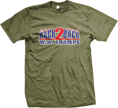 Back to Back W.W. Champs USA America Patriotic Pride Mens T-shirt
