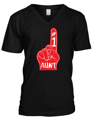 #1 Number One Great Aunt V-neck T-shirt