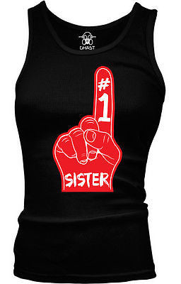 #1 Number One Sister Junior's Tank Top