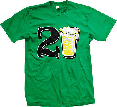 21st Happy Birthday Drinking Drunk Party Beer Wasted Shenanigans Mens T-shirt