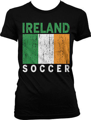 Ireland Flag Soccer Football Irish Pride Eire 2014 Games Green Juniors Tshirt