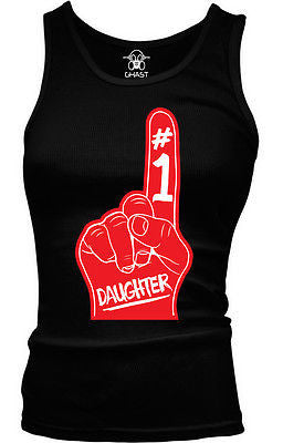 #1 Number One Daughter Junior's Tank Top