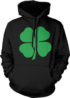 4 Four Leaf Clover Lucky Charm Irish St Patricks Day Hoodie Pullover Sweatshirt