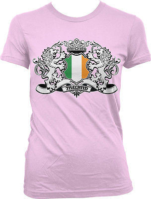 Ireland Coat of Arms Lions Irish Pride Rugby Soccer Football Juniors Tshirt