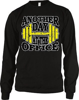 Another Day At The Office Dumbbell Lifting Workout Weights Long Sleeve Thermal