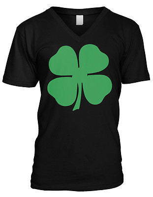 4 Four Leaf Clover Lucky Charm Irish Pride St Patricks Day Mens V-neck T-shirt