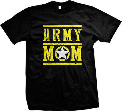 Army Mom Mother Military Armed Forces USA Pride Patriotic Mens T-shirt