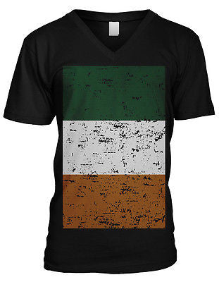Ireland Flag Irish Pride Emerald Isle Eire Celtic Dublin Mens V-neck T-shirt