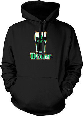 Irish Dinner Beer Pint Glass Clover St Patricks Day Hoodie Pullover Sweatshirt