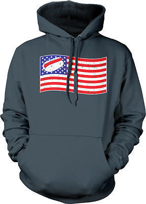 American Flag Hot Dog Contest USA Pride Red White Blue Hoodie Pullover