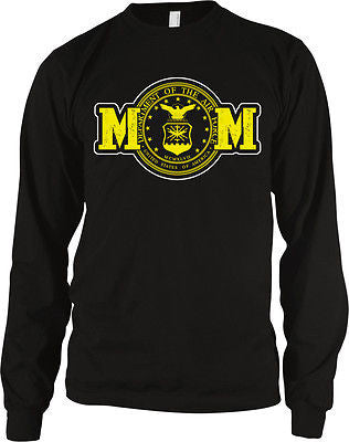Air Force Mom Mother Military Armed Forces Patriotic USA Long Sleeve Thermal